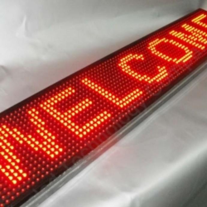 Светодиодная строка красного цвета 96x16